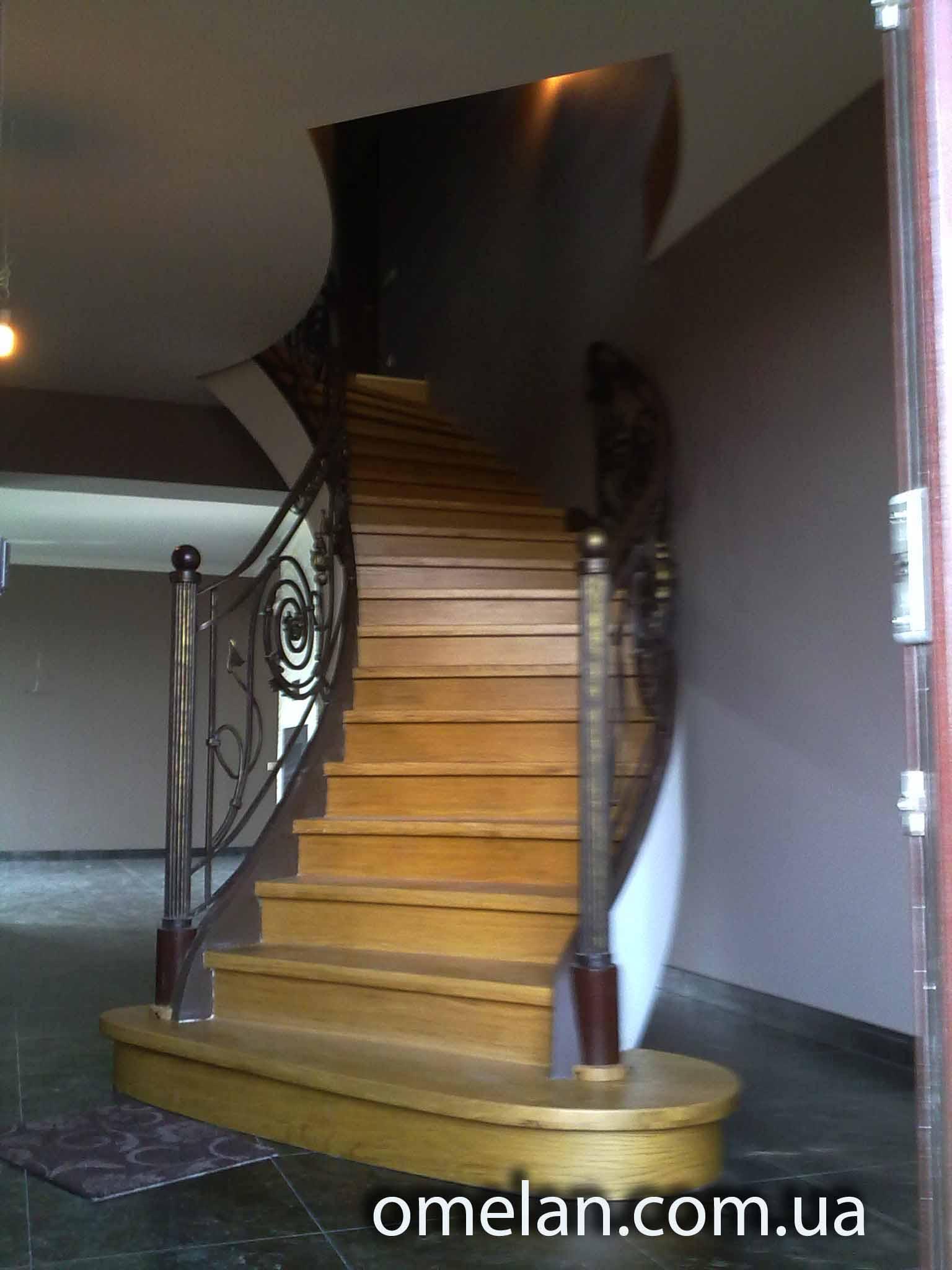 сходи бетонні поворотні